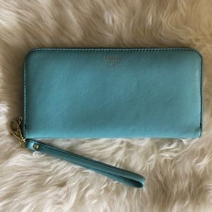 Fossil Zip Around Wallet - Blue